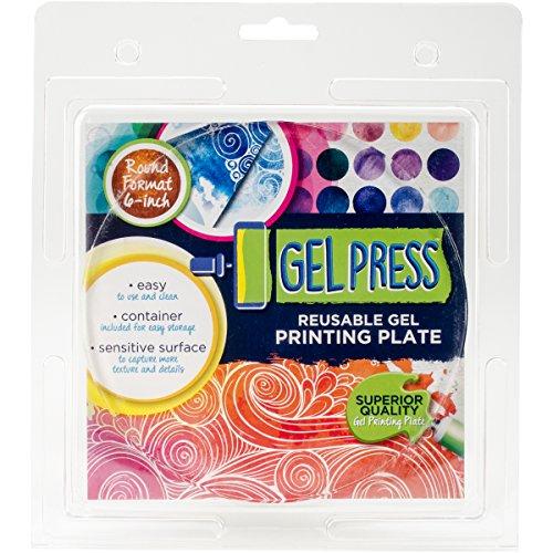 (Gel Press Monoprint Kreisförmige Druckplatte für die Erstellung einzigartiger mehrschichtiger Drucke)