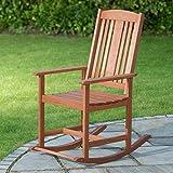 Yakarta madera maciza al aire libre jardín y patio relajarse silla mecedora