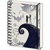 The Nightmare Before Christmas (Spiral Hill) A5 Wiro Notebook SR72658 Zwart