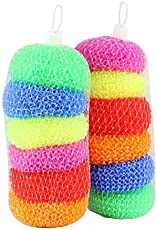 Bhavya Enterprises Plastic Scrubber Round, Set of 12 pcs