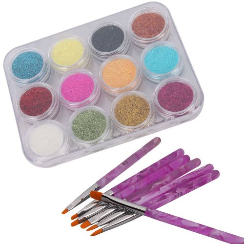 sodialr-12-couleur-art-dongle-etincelle-poudre-scintillante-poussieres-bouts-decoration-et-7pcs-pein