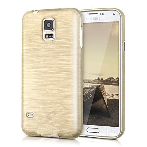 kwmobile Samsung Galaxy S5 / S5 Neo Hülle - Handyhülle für Samsung Galaxy S5 / S5 Neo - Handy Case in Gold Transparent