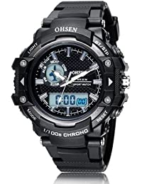 OHSEN Hot Sale Fashion Brand OHSEN LED Mens Sports Watches Digital Watch Men Man Alarm Date Day Stopwatch Rubber...