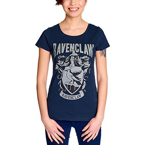 Elbenwald Harry Potter Damen T-Shirt Ravenclaw Wappen Baumwolle blau - XS