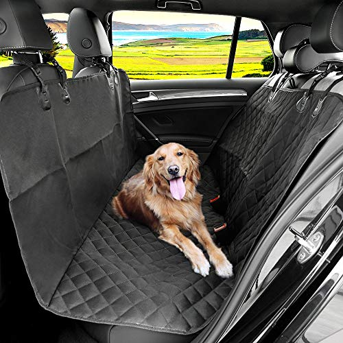KYG Hundedecke Auto Autoschondecke für Rückbank Kofferraum Wasserdichte Schondecke mit Gurtöffnung für Hunde 148*136 cm Robuste Auto Hundedecke Rücksitz für Hunde MEHRWEG