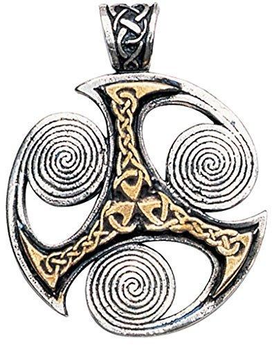 Triskilian Keltischer Anhänger Amulett Talisman Schmuck - Optimismus und Fortschritt