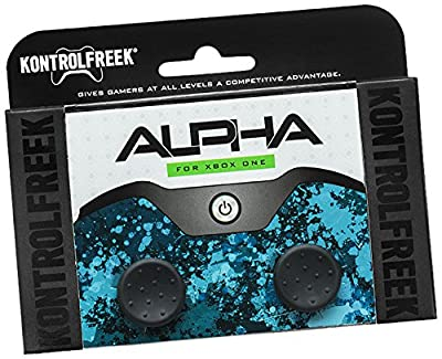 KontrolFreek Alpha for Xbox One and Xbox Series X Controller | Performance Thumbsticks | 2 Low-Rise Concave | Black