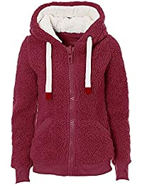 Abrigos Mujer Invierno Talla Grande POLP Abrigo con Capucha para Mujer Chaqueta Ultra-Caliente Felpa