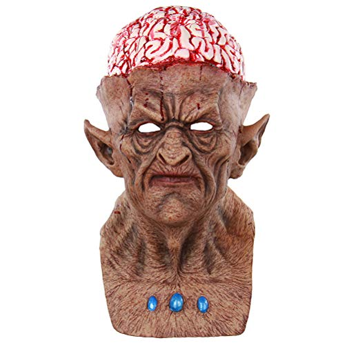 Kostüm Burst Full - Amosfun Halloween Scary Maske Evil Devil Blutige Burst Brains Monster Zombie Clown Creepy Masken Halloween Kostüme Horrible Adult Latex Full Face Atmungsaktive Halloween-Maske