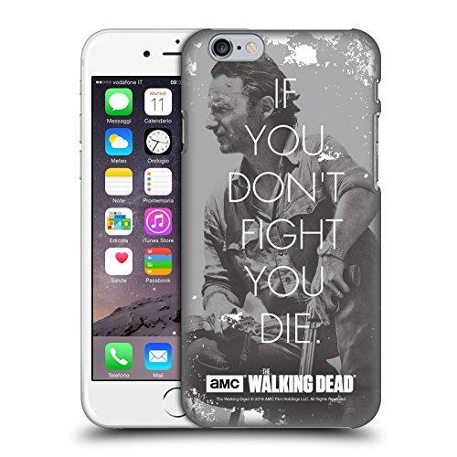 Officiel AMC The Walking Dead Combat De Rick Citations Étui Coque D'Arrière Rigide Pour Apple iPhone 6 / 6s