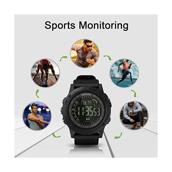 Smartwatch Hombre Deporte Reloj Inteligente Hombre Deporte con Estilo Smartwatch para Deportes y Aire Libre con Contadores de Podómetro Calorías Cronómetro Notificación de Mensajes para Android y iOS 9