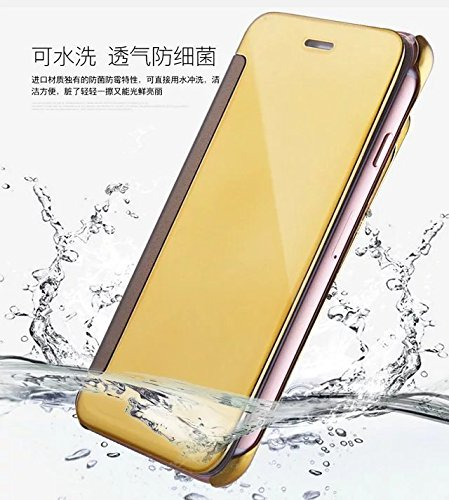 Meimeiwu Mirror Custodia - Frame Bumper Caso Cellulare Cover Case Protettiva Per iPhone 7 Plus - Rose Oro Sky Blue