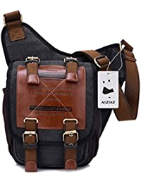 Los nuevos bolsos de hombres de la Retro de la lona Satchel / Mensajero bolso