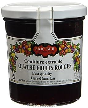 ERIC BUR Confiture Extra de 4 Fruits Rouges 370 g