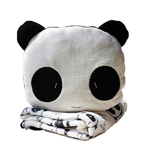 Set di coperta e cuscino a forma di panda