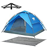 Night Cat Waterproof Camping Tent 3 4 Person Instant Pop Up Automatic Dome