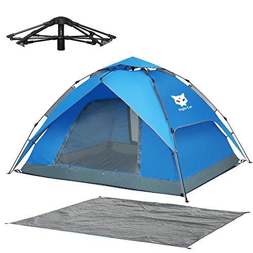 Night Cat Wasserdichtes Campingzelt 3 4 Person Sofortige Pop Up Automatische Dome Urlaub Einfache Einrichtungszelt für Outdoor Wandern Doppelschicht