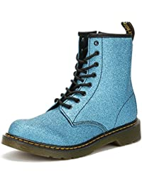 Dr. Martens Youth Laser Lake Azul Delaney Glitter Botas