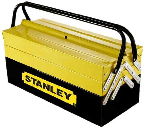 Stanley Werkzeugbox / Werkzeugkoffer CantiLever (21x21x45cm, mit Klemmschutz für Werkzeuge und...