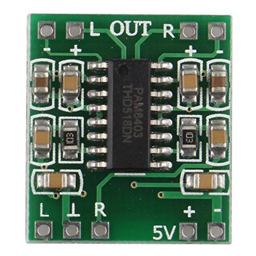 haljia 2Kanal 3W 2* 3W Mini Digital Power PAM8403Class D Audio Verstärker Amplifier Board USB DC 5V