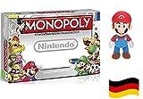 Nintendo Monopoly deutsch & Super Mario 20 cm Plüschfigur Doppelset
