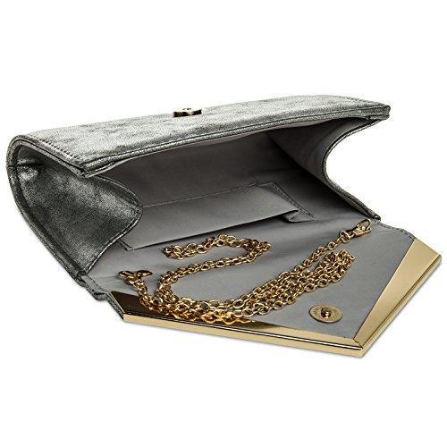 CASPAR Fashion, Poschette giorno donna Platino