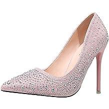 a6e6a5f55aebec Snone Damen Pumps High Heels Schuhe Lackleder Flacher Mund Runder Kopf  Einzelne Schuhe Damenschuhe hoher Absatz