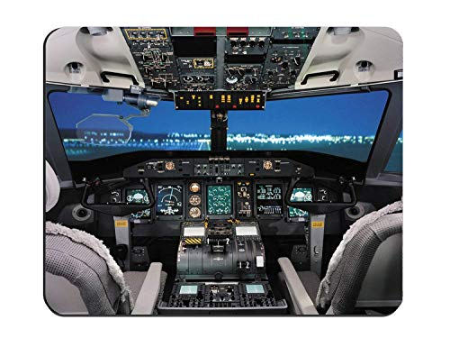 Airplane Cockpit/Aircraft Cockpit Cloth Cover Rectangle Mouse Pad 9.8 X 11.8
