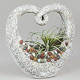 Garten Pflanzgefäß, Schale STONES Heart in Herzform H. 36cm B. 35cm Formano F18