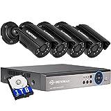 DEFEWAY Kit de Cámaras de Vigilancia Seguridad, 4CH 1080N DVR Con 4 x 720P Con Camaras, IR-Cut, HDMI, 24 LEDs, 1TB Disco Duro de vigilancia, 4+4(1TB)