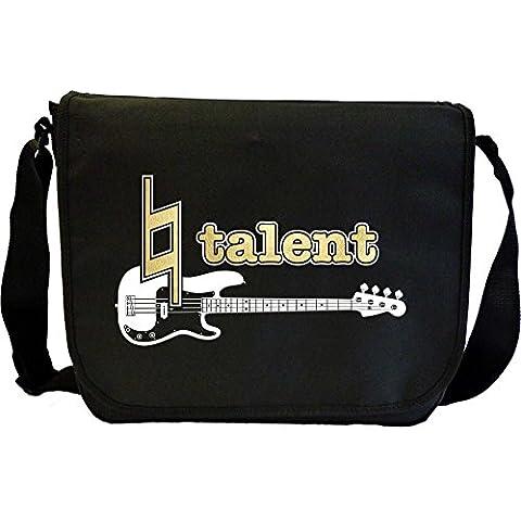 Bass Guitar Natural Talent - Sheet Music Document Bag Borsa Spartiti MusicaliTee