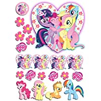 21 Pc Edible Precut My Little Pony Cake Toppers Decorations Peel Attach Make