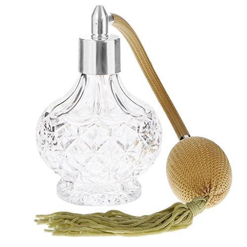 Gazechimp 100ml Vintage Parfüm-Flasche Spray Zerstäuber Damen Reisen Nachfüllbar