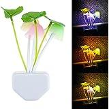 LED Lámpara de Pared Seta Plantas Romántica Luz Hongo de Cama Noche con Enchufe EU de 220V para Niños Colorido