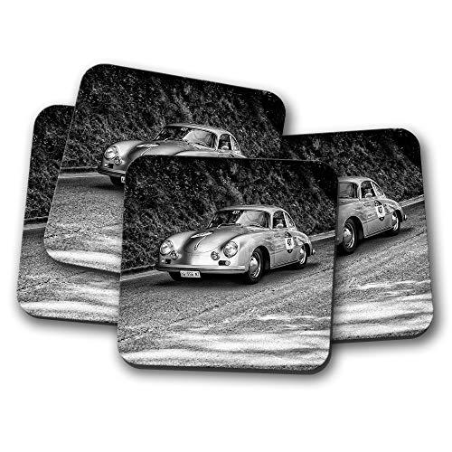 Vintage-Rennwagen-Design, klassisches Design, 4 Stück ()