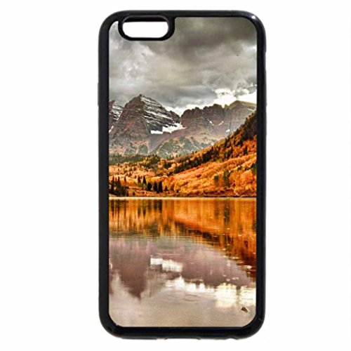 iPhone 6S / iPhone 6 Case (Black) mountain-pond