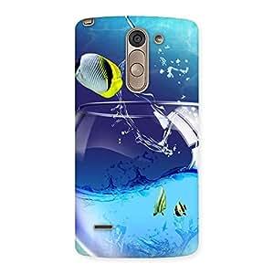 Stylish Cute Tub Fish Back Case Cover for LG G3 Stylus