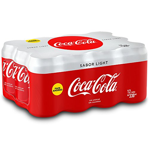 Coca Cola Light Refresco - Pack de 12 x 33 cl - Total: 3960 ml