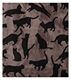 UPPERCASE Haustierdecke COOL CATS, Taupe / Schwarz, 75 x 100 cm - 4