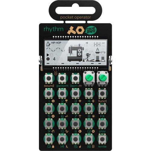 pocket-operator-po-12-rhythm-16-step-pattern-sequencer-synthesizer-black-green