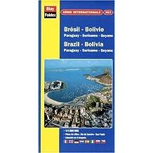 Carte routière et touristique : Brésil, N° 363 (avec un index)