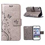 Best Etui pour téléphone iPhone 4 Cases - MOONCASE iPhone 4S Bookstyle Étui Fleur Housse en Review
