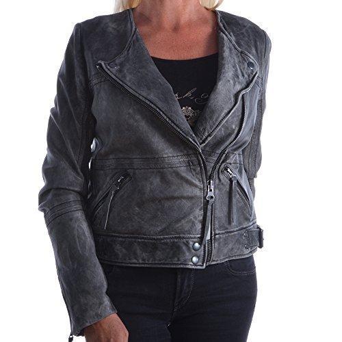 Pepe Jeans London wallabee taglia giacca da donna grigio giacca in pelle giacca M 250 PL400904 giacca Biker