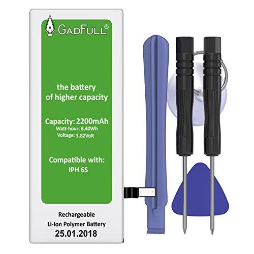 GadFull batería de Alta Capacidad para iPhone 6S Profesional Set | Fecha de producción 2018 | Incluye Manual de reparación y Kit Profesional de Juego de Herramientas