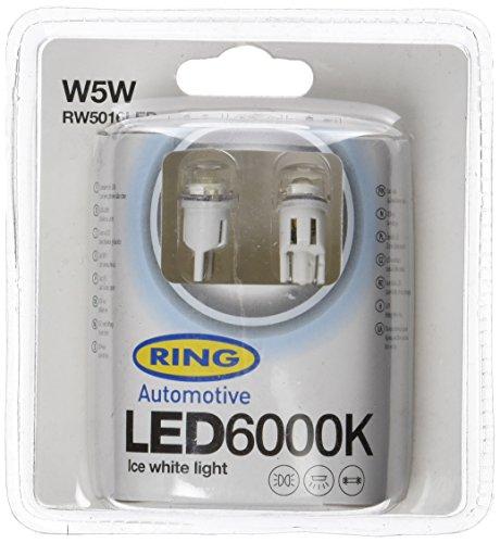 2 Ampoules LED 12V 1W W5W 6000K ICE WHITE -INTERDIT SUR ROUTE Ring