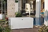 Auflagenbox / Kissenbox Koll Living 511 Liter l 100% Wasserdicht l mit Belüftung dadurch kein übler Geruch / Schimmel l Moderne Rattanoptik l l Deckel belastbar bis 200 KG ( 2 Personen ) - Poolbox