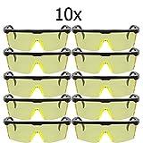 Oramics Softair Brille 10-er Set Airsoft Schutz-Brille, getönte Paintball und Softair Schutzbrille