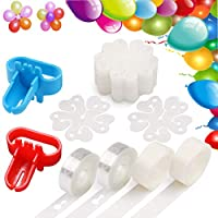 bluesees Balloon Decorating Kit DIY Balloon Arch Garland Decorating Strip Kit with Tape Strip, 2 Pcs Tying Tool, 200 Dot Glue, 20 Flower Clip for Party Wedding Birthday Baby Shower Anniversary