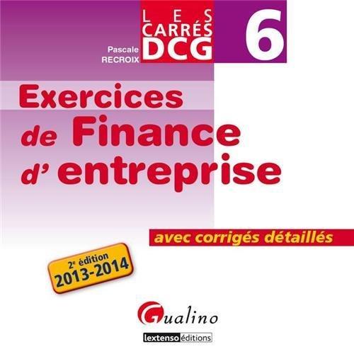 DCG 6 Exercices de Finance d'entrepr...