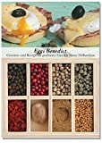 Eggs Benedict – 8 Gewürze für pochierte Eier mit Sauce Hollandaise (53g) – in einem schönen Holzkästchen – mit Rezept und Einkaufsliste – Geschenkidee für Feinschmecker – von Feuer & Glas